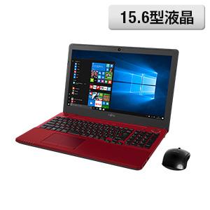 <富士通> 大人気のA4ホームノートパソコン LIFEBOOK AH53/A3 ルビーレッド画像